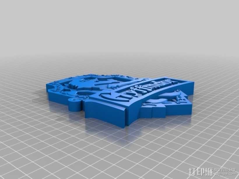 哈利波特Gryffindor Crest 3D模型  图1