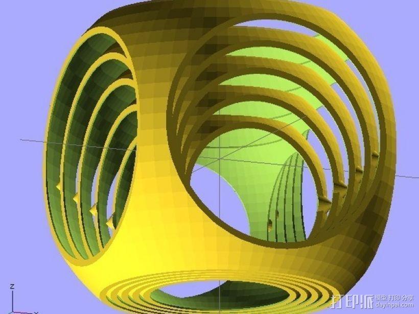 参数型螺旋立方体 3D模型  图1