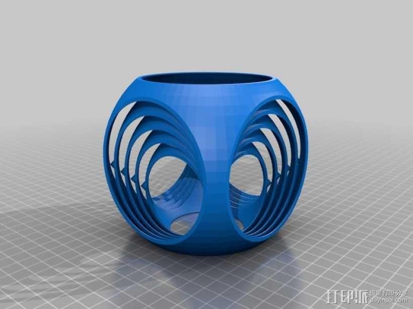 参数型螺旋立方体 3D模型  图2
