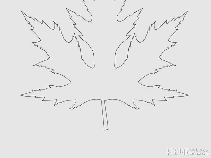 枫叶 3D模型  图4