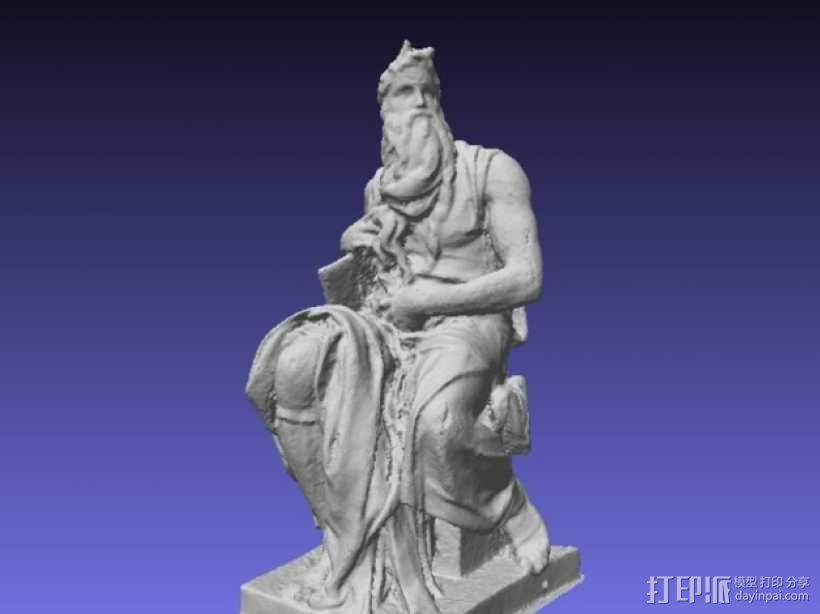 米开朗基罗所造的摩西像 3D模型  图1