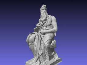 米开朗基罗所造的摩西像 3D模型