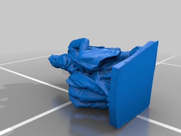 米开朗基罗所造的摩西像 3D模型  图3