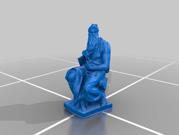 米开朗基罗所造的摩西像 3D模型  图4
