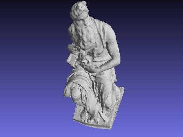 米开朗基罗所造的摩西像 3D模型  图6