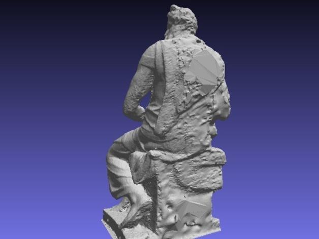 米开朗基罗所造的摩西像 3D模型  图7