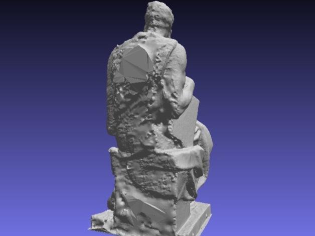 米开朗基罗所造的摩西像 3D模型  图8