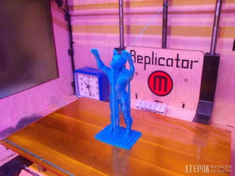 阿努比斯神像 3D模型  图1