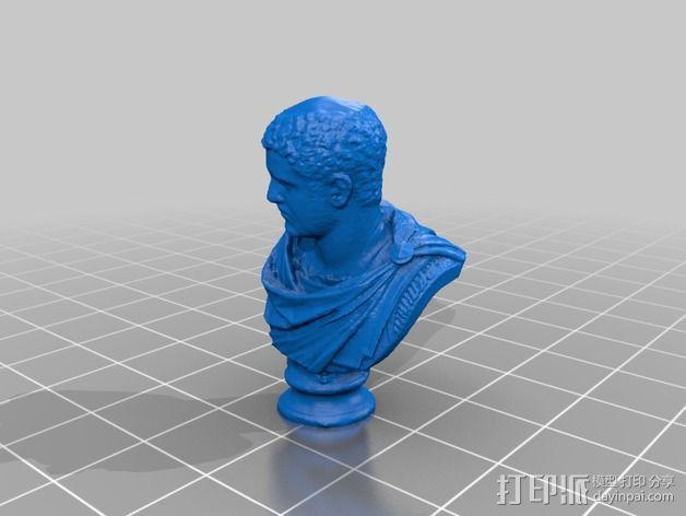 卡拉卡拉皇帝大理石头像 3D模型  图2