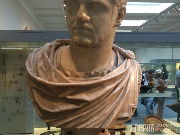 卡拉卡拉皇帝大理石头像 3D模型  图3
