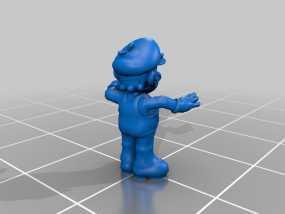 愤怒的马里奥 3D模型