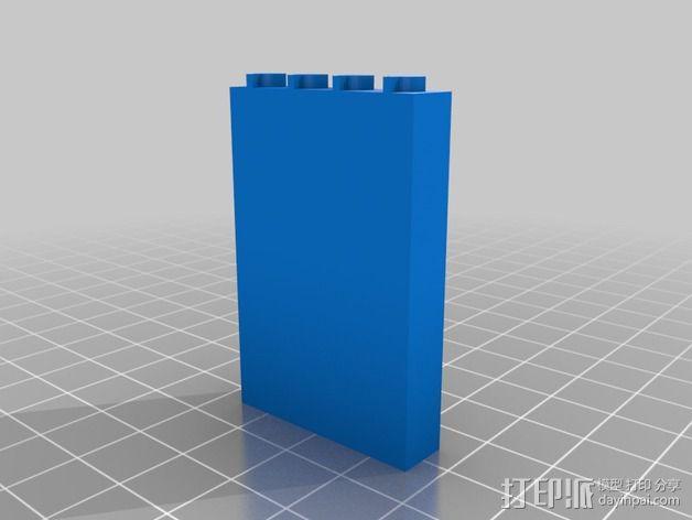 兼容乐高墙壁组件 3D模型  图1