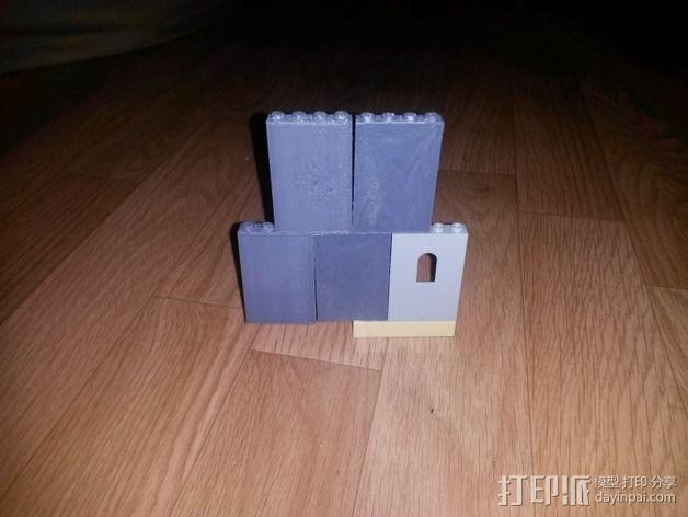 兼容乐高墙壁组件 3D模型  图2