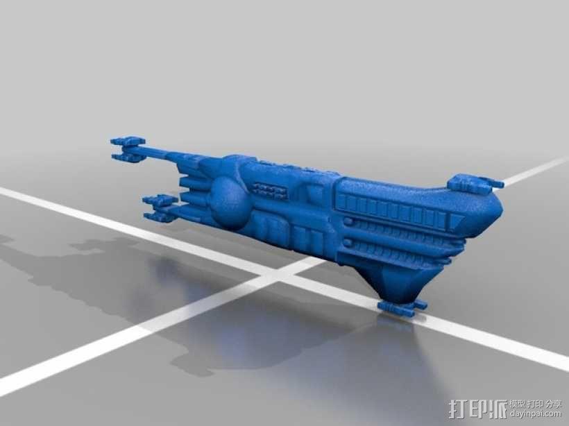 无畏号战舰 3D模型  图2