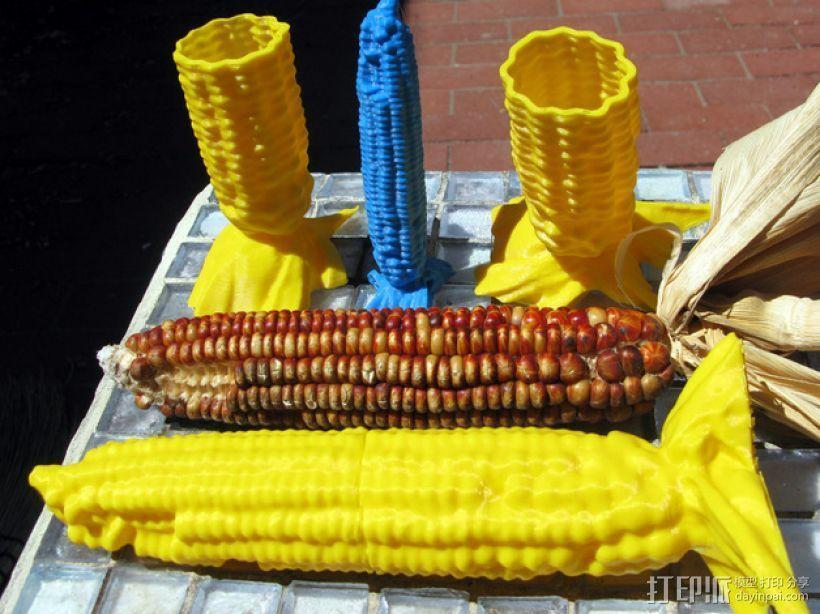 玉米型容器 3D模型  图1