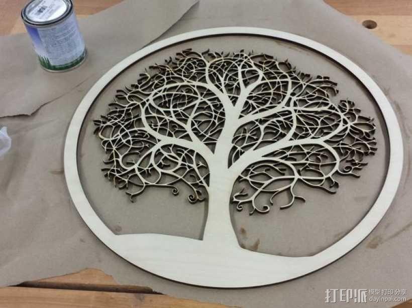 圆盘激光切割树 3D模型  图1