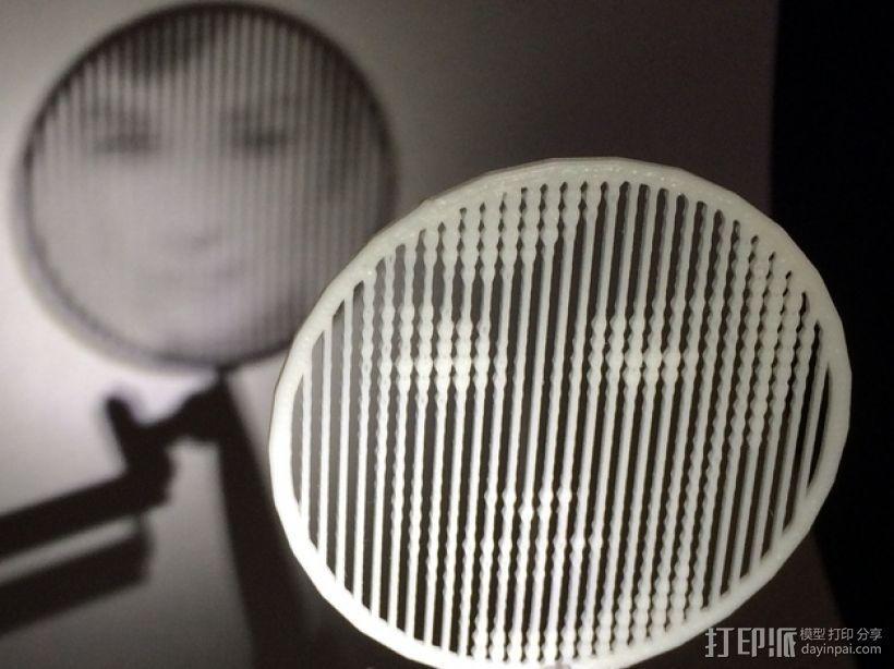 人脸漏字板 3D模型  图1