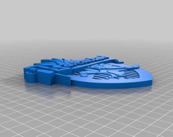 哈利波特乌鸦爪徽章 3D模型  图1