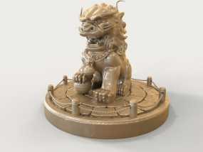中国狮子 3D模型