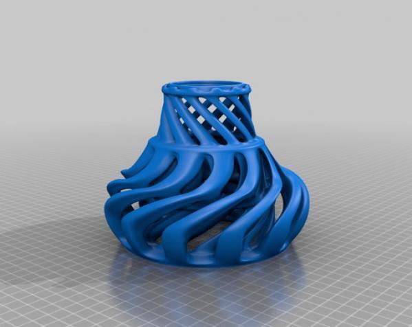 涡环花瓶 3D模型  图3