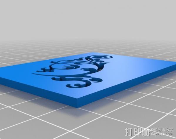 参数化印刷版模具 3D模型  图3