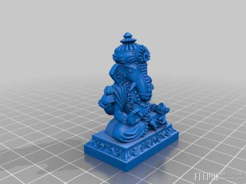 蛙神雕塑模型 3D模型  图2