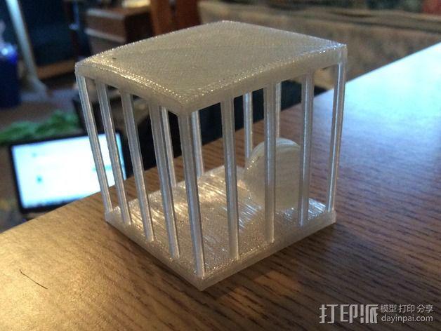 笼中球 3D模型  图2