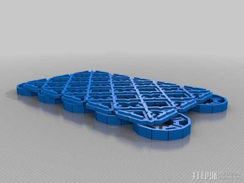 波斯风图形 雕版 3D模型  图3