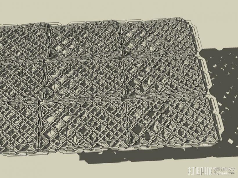 波斯风图形 雕版 3D模型  图6