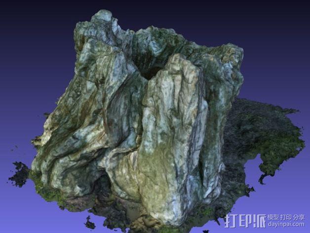 岩石化的树桩雕塑  3D模型  图4