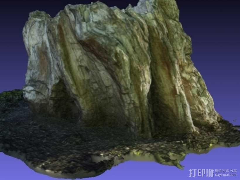 岩石化的树桩雕塑  3D模型  图6