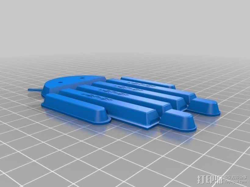 安卓小人 巧克力 3D模型  图1