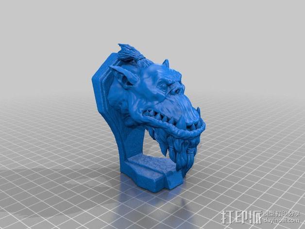 兽人半身雕塑 3D模型  图2