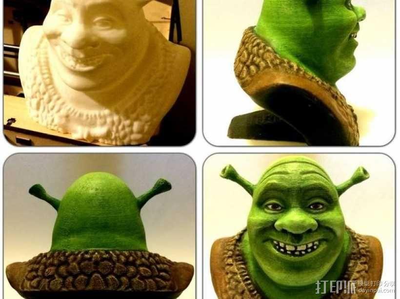 怪物史莱克 头像雕塑 3D模型  图1