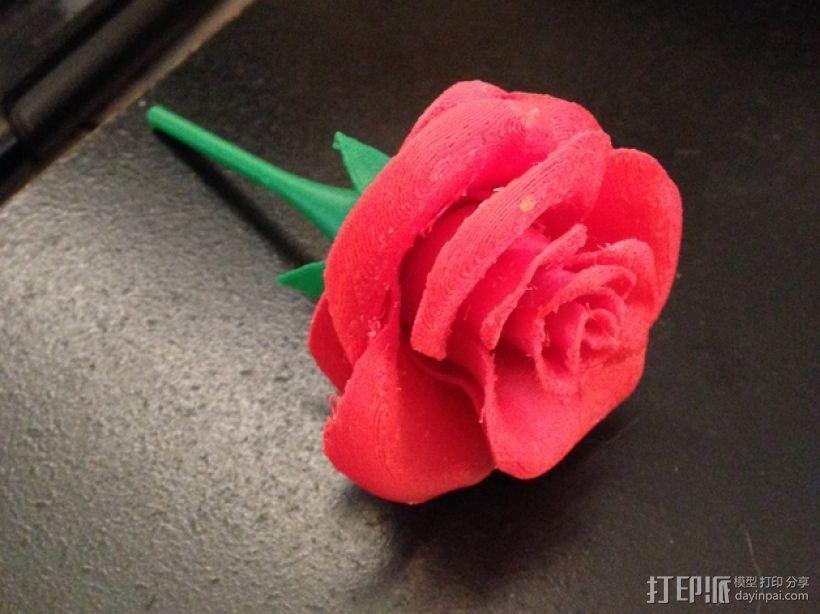 玫瑰花 3D模型  图1