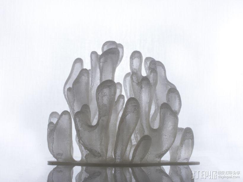 树枝形水晶 3D模型  图1