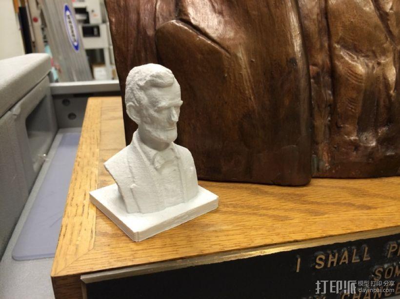 林肯半身像雕塑模型 3D模型  图1