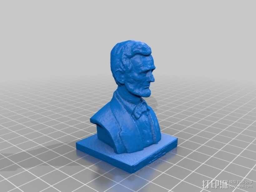 林肯半身像雕塑模型 3D模型  图2