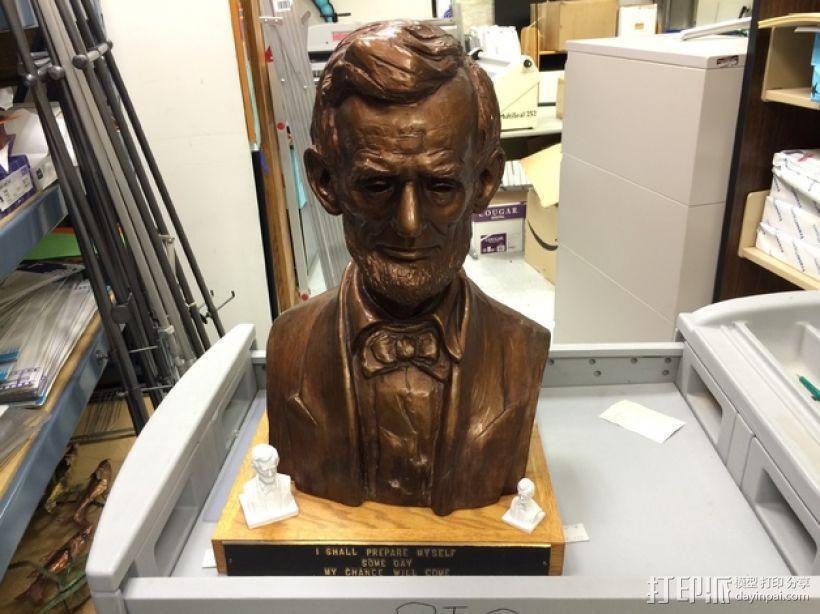 林肯半身像雕塑模型 3D模型  图3