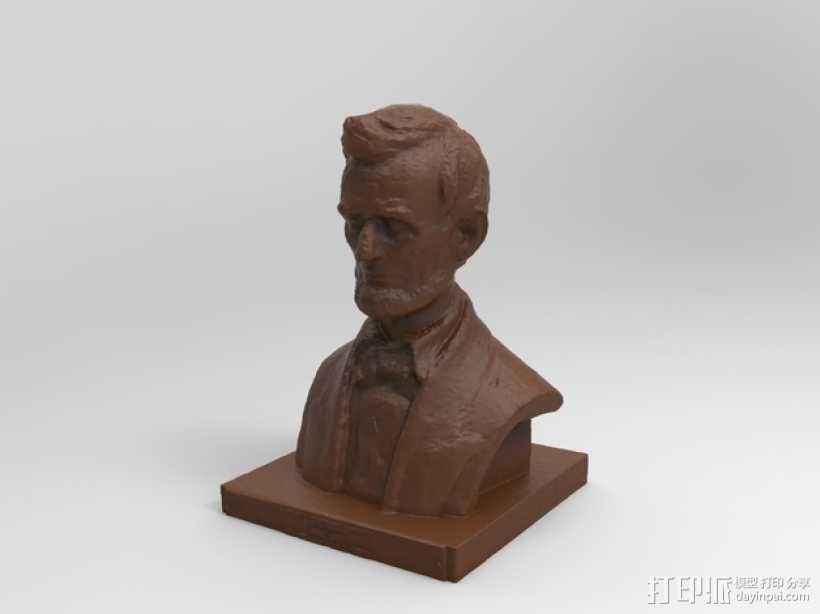 林肯半身像雕塑模型 3D模型  图6