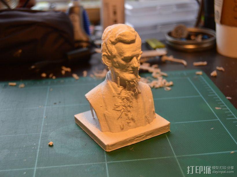 林肯半身像雕塑模型 3D模型  图5