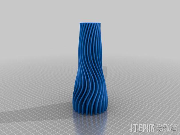 波纹形花瓶 3D模型  图2