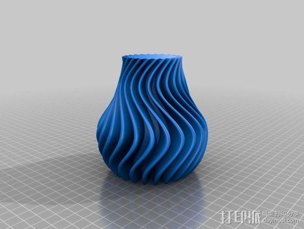 波纹形花瓶 3D模型  图3