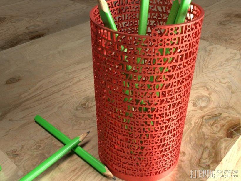 数字笔筒 3D模型  图1
