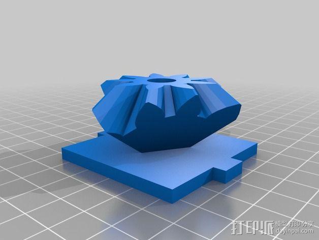 齿轮方块 3D模型  图3