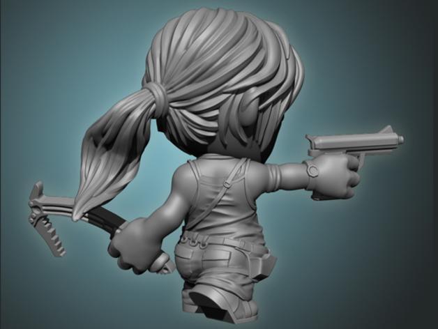 女杀手Lara小雕像 3D模型  图3
