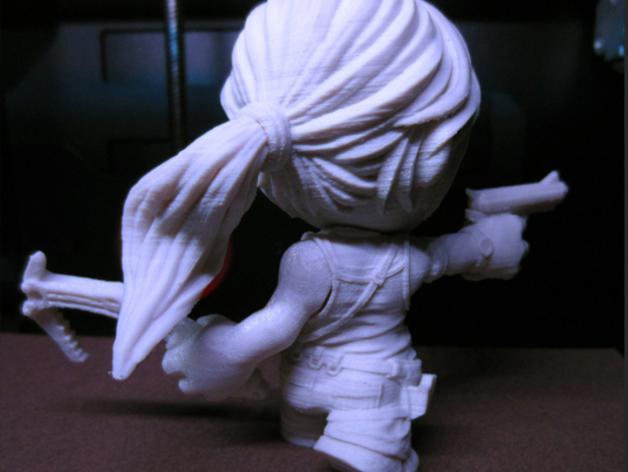 女杀手Lara小雕像 3D模型  图6
