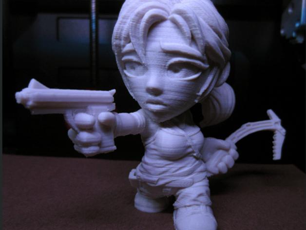女杀手Lara小雕像 3D模型  图7