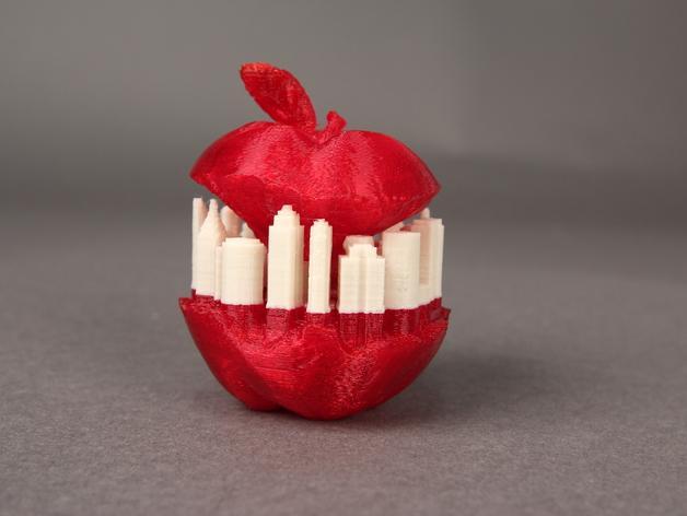 纽约天际线苹果 3D模型  图2