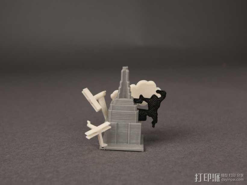 纽约帝国大厦上的金刚 3D模型  图1